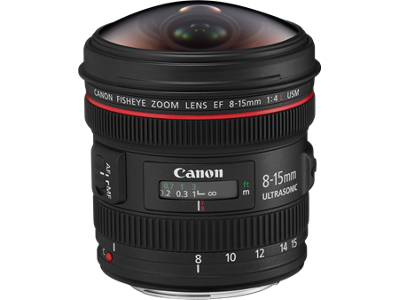 EF 8 15mm f4L Fisheye USM slant without cap